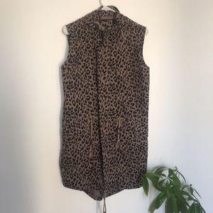 Leopard print tunic / jacket outwear size XS